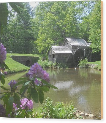 Mabry Mill In May Wood Print by Diannah Lynch