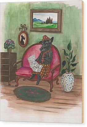 Macduff After Work Wood Print by Margaryta Yermolayeva