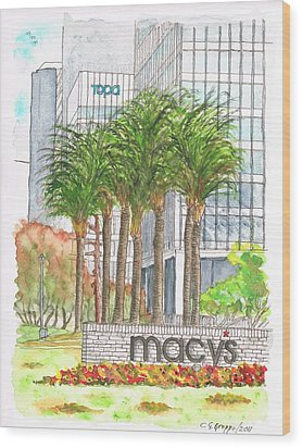 Macy's In Century City Mall - Beverly Hills - California Wood Print by Carlos G Groppa