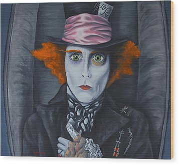 Mad Hatter Wood Print by Travis Radcliffe