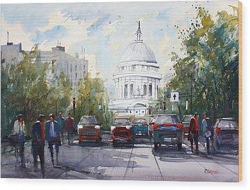 Madison - Capitol Wood Print by Ryan Radke