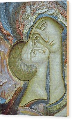 Madonna And Child Wood Print by Alek Rapoport