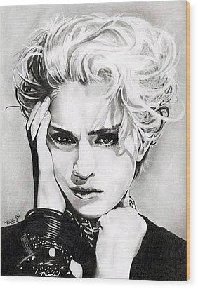 Madonna Wood Print by Fred Larucci
