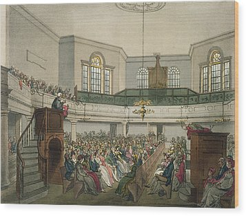 Magdalen Chapel Wood Print by Pugin And Rowlandson