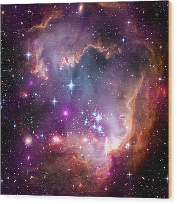 Magellanic Cloud 3 Wood Print by The  Vault - Jennifer Rondinelli Reilly