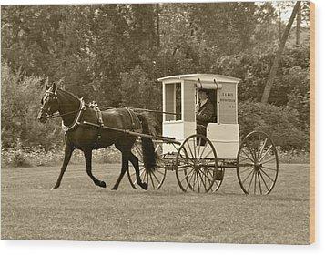 Mail Cart Pleasure Finish Wood Print by Wayne Sheeler