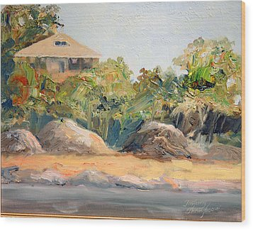 Maine Harbor House Wood Print by Tommy Thompson