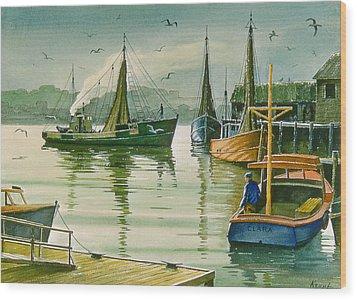 Maine Harbor Wood Print by Paul Krapf
