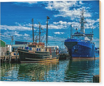 Maine Responder And Meridian Portland Me Wood Print by Bob Orsillo