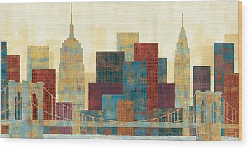 Majestic City Wood Print by Michael Mullan