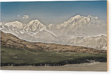 Majestic Mount Mckinley Wood Print by Penny Lisowski