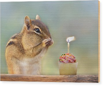 Make A Wish Wood Print by Lori Deiter