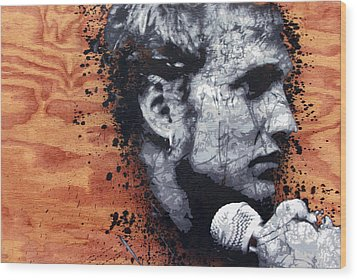 Man In The Box Wood Print by Bobby Zeik