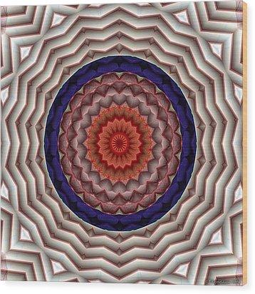 Mandala 10 Wood Print by Terry Reynoldson
