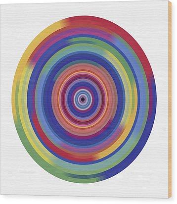 Mandala 3 Wood Print by Rozita Fogelman