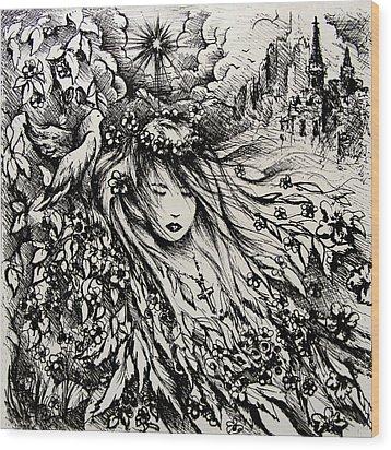 Mandee's Dream Wood Print by Rachel Christine Nowicki