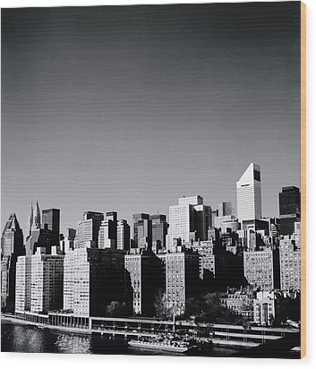Manhattan Wood Print by Shaun Higson