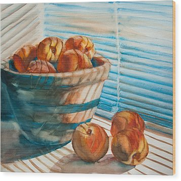 Many Blind Peaches Wood Print by Jani Freimann
