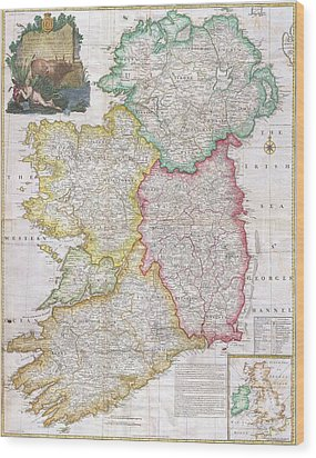 Map Of Ireland  1794 Wood Print by Pg Reproductions