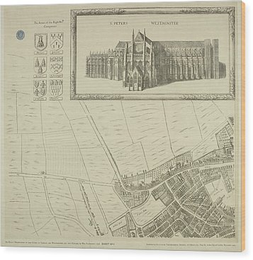 Map Of Westminster In The City Of London Wood Print by British Library