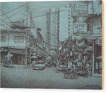 Mapua Street Wood Print by Hezekiah Lopez