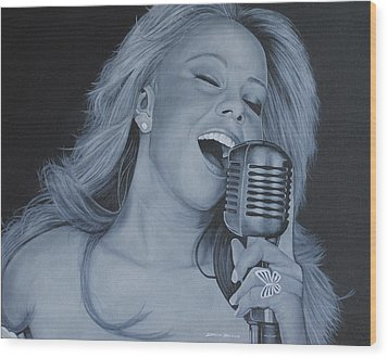 Mariah Carey Wood Print by David Dunne
