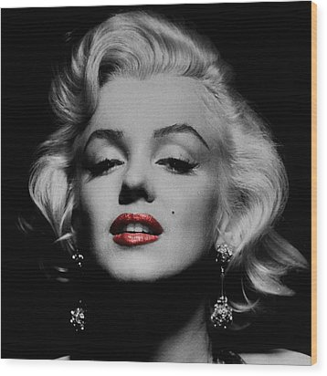 Marilyn Monroe 3 Wood Print by Andrew Fare