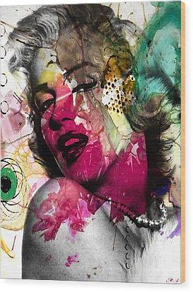 Marilyn Monroe Wood Print by Mark Ashkenazi
