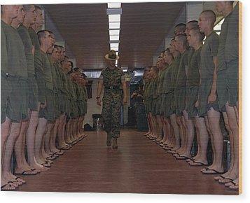 Marine Basic Training Wood Print by Mountain Dreams