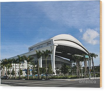 Marlins Park Stadium Miami 16 Wood Print by Rene Triay Photography