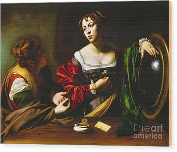Martha And Mary Magdalene Wood Print by Pg Reproductions