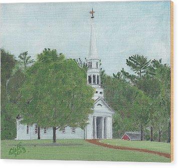 Martha Mary Chapel Wood Print by Cliff Wilson