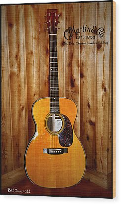Martin Guitar - The Eric Clapton Limited Edition Wood Print by Bill Cannon