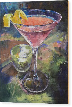 Martini Wood Print by Michael Creese