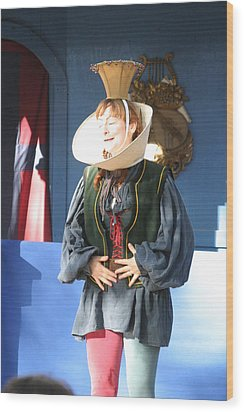 Maryland Renaissance Festival - A Fool Named O - 121211 Wood Print by DC Photographer
