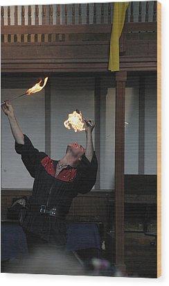 Maryland Renaissance Festival - Johnny Fox Sword Swallower - 1212105 Wood Print by DC Photographer