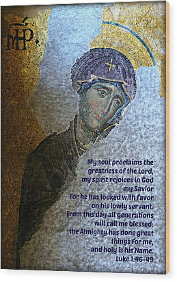 Mary's Magnificat Wood Print by Stephen Stookey