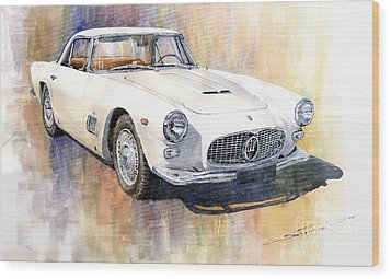 Maserati 3500gt Coupe Wood Print by Yuriy  Shevchuk