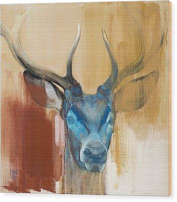 Mask Wood Print by Mark Adlington
