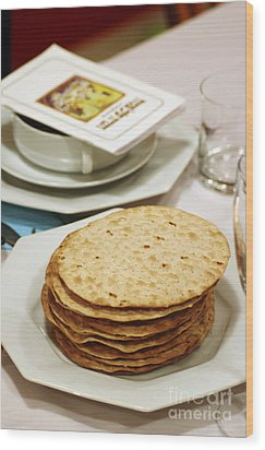 Matza And Haggada For Pesach Wood Print by Ilan Rosen