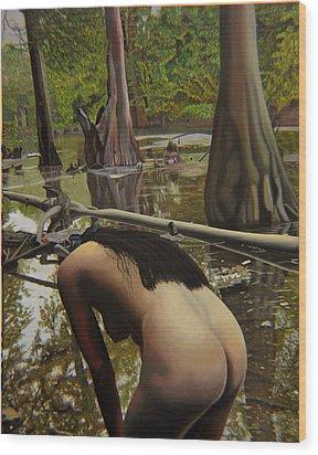 May Morning Arkansas River  2 Wood Print by Thu Nguyen