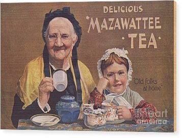 Mazawattee 1890s Uk Tea Wood Print by The Advertising Archives
