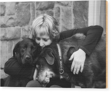 Me And My Pals Wood Print by Guy Whiteley