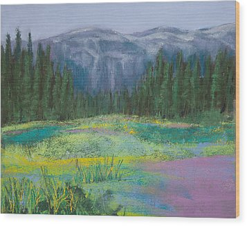 Meadow In The Cascades Wood Print by David Patterson