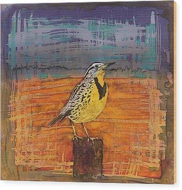 Meadows Song Wood Print by Carolyn Doe