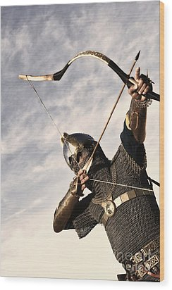Medieval Archer Wood Print by Holly Martin