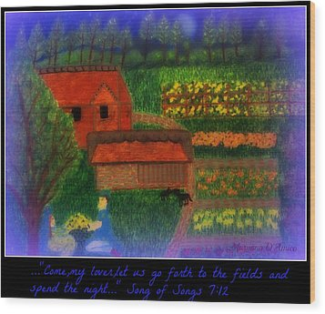 Meditation Number 4 Song Of Songs Wood Print by Maryann  DAmico