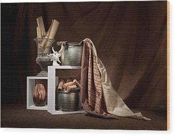 Medley Of Textures Still Life Wood Print by Tom Mc Nemar