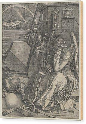 Melancholia I Wood Print by Albrecht Durer