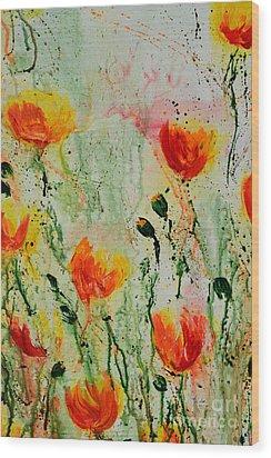 Melody Of Spring- Flower Wood Print by Ismeta Gruenwald